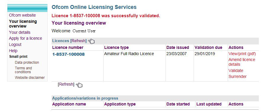 licence validation2